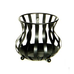 Wrought iron black braziers